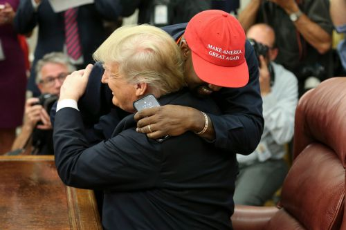 Trump, Kanye West hug during bizarre Oval Office meeting