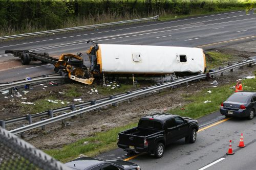 Bus driver charged with causing deaths in New Jersey crash