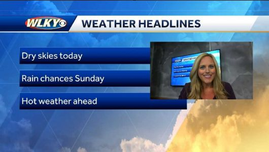Dry skies and warm temps today