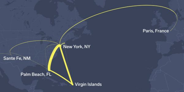 We compiled every known flight made by Jeffrey Epstein's fleet of private planes. Search them all for the first time