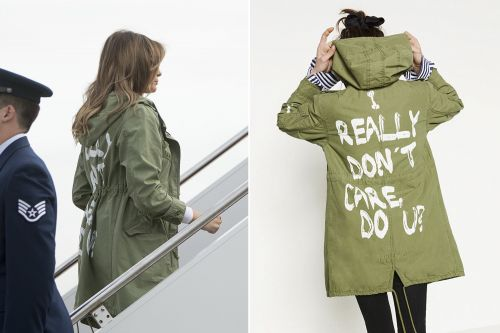 Melania Trump wears 'I really don't care, do U?' jacket to border