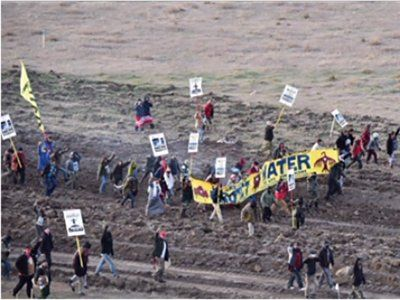Protesters set up camp directly in pipeline path