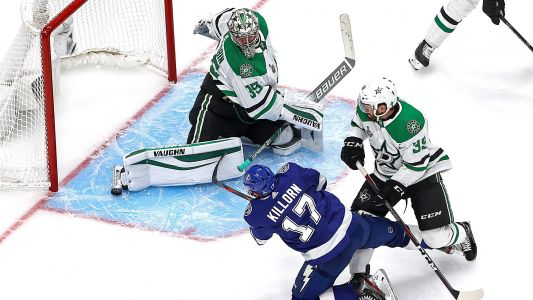 Anton Khudobin's top 4 saves as goalie backstops Stars' Stanley Cup Final Game 1 win