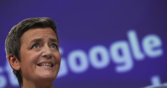 EU commissioner Vestager running for bloc's top posts