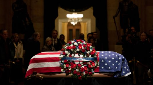 President George H.W. Bush Remembered At National Cathedral Service