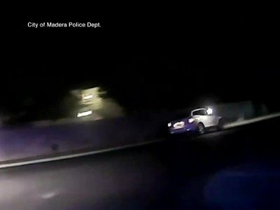 Video shows shots fired at police car; Woman on ride-along hurt