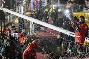 After rescuing rival, Bestaven wins solo global sailing race