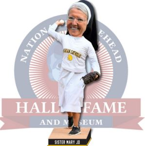After a famous first pitch, Sister Mary Jo Sobieck get a bobblehead