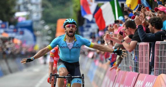 Cataldo wins Giro stage as Roglic crashes on borrowed bike