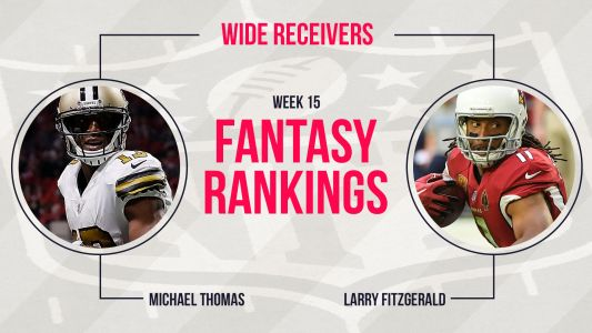 Week 15 Fantasy Football Rankings: Wide receiver