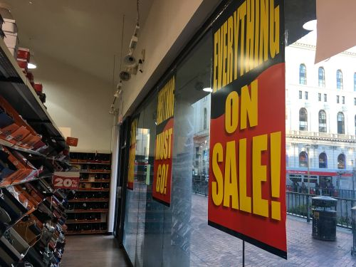 We went shopping at Payless 3 days after it filed for bankruptcy for the second time in 2 years - and it's clear why the store is dying