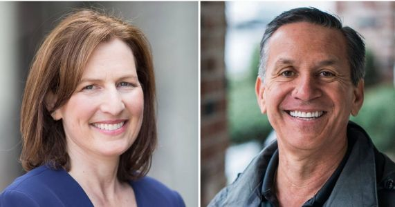 Congressional candidates Dino Rossi and Kim Schrier clash in lone debate in Ellensburg