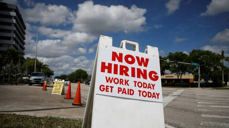 US job growth unexpectedly softens, falling far below expectations