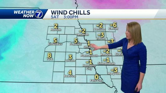 Cold and windy Saturday, wind chills stay near 0