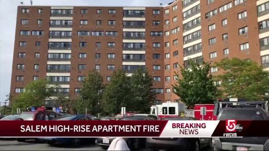 100+ people evactated after high-rise fire