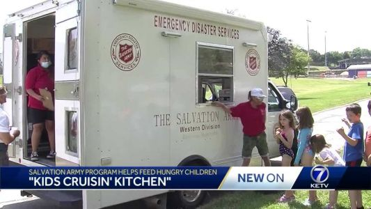 Salvation Army's Kids Cruisin' Kitchen feeds hungry children during the summer