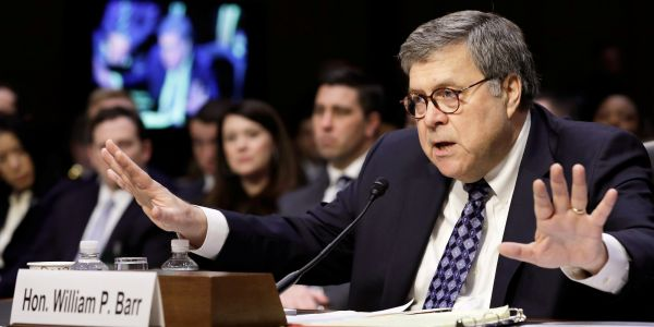Barr's confirmation hearing just kicked off, and he's already gone against Trump in big ways