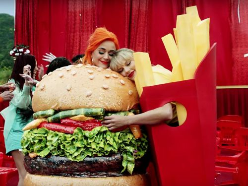 Taylor Swift squashes her beef with Katy Perry in the star-studded video for 'You Need to Calm Down'