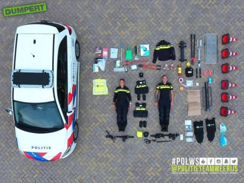 Police cars, ambulances, and fire trucks around the world are taking aerial photos of their equipment in a viral 'Tetris challenge'
