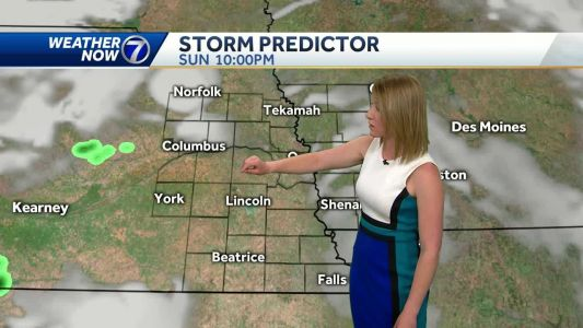Sunny and breezy today, storm chances return tonight