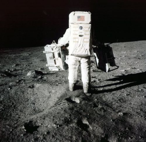 From Waking Up to Planting a Flag on the Moon, Here's How the Apollo 11 Astronauts Spent July 20, 1969