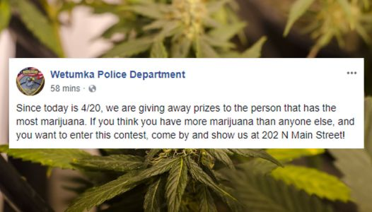 Oklahoma police department hosts 4/20 'contest' to find person with most pot