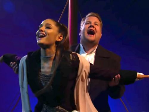 Ariana Grande and James Corden recreated 'Titanic' with a modern soundtrack - and the video is iconic