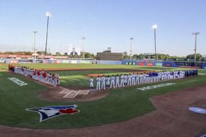 Angels win 7-5 in home opener for Florida-based Blue Jays