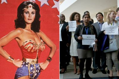 Protesters don't think 'scantily clad' Wonder Woman is a good role model