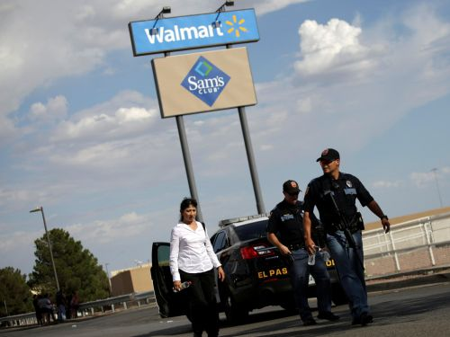 Police are hunting for a mysterious 'hero' who may have saved an infant and several others during the deadly El Paso Walmart shooting
