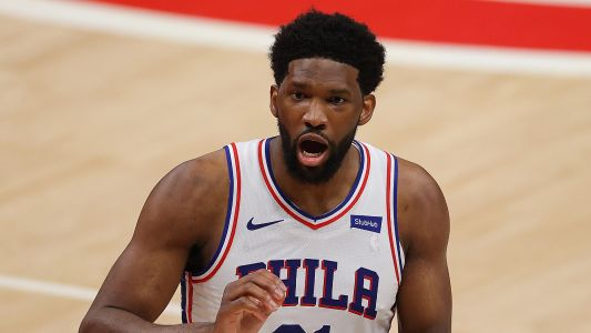 Joel Embiid stops in middle of postgame press conference to admire Kawhi Leonard's monster dunk