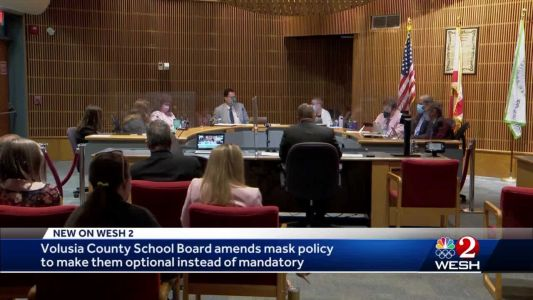 Volusia County School Board amends mask policy to make them optional instead of mandatory