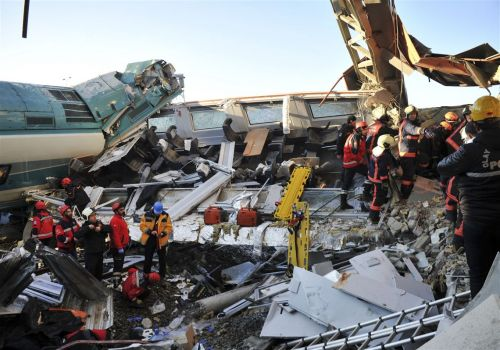Turkey train crash leaves 9 dead, dozens injured