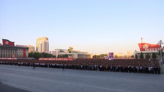 Raw video: Anti-US rally draws thousands in North Korea