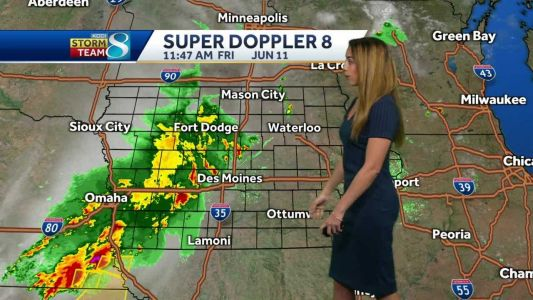 Rain moves in this afternoon