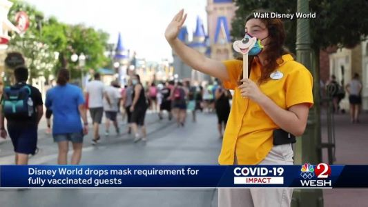 Disney's California and Florida parks are dropping mask requirements for vaccinated guests