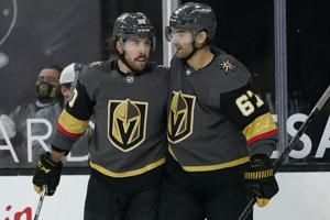 Stickless Stephenson gets winner, Vegas beats Coyotes 4-2