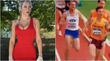 'Don't complain about my cleavage anymore': Golf babe Spiranac weighs in on runner's X-rated wardrobe fail