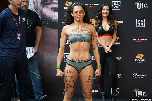 Alejandra Lara puts spotlight on environmental crises at Bellator 225 weigh-ins