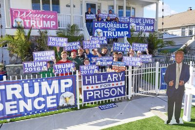 Cops told this guy to take down Trump signs - so he put up more
