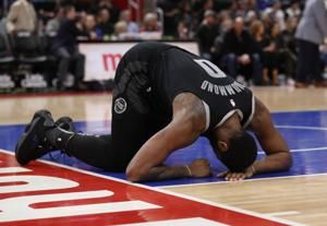 Pistons' Drummond out versus Kings, in concussion protocol