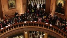 Protesters Fill Michigan Capitol To Stand Against GOP Power Grab