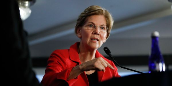 Elizabeth Warren grilled Treasury Secretary Mnuchin about the billions the Fed has injected into the market - and warned him against easing bank regulations