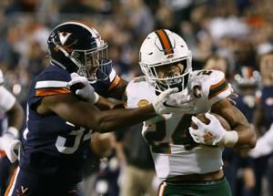 Virginia uses defence to beat No. 16 Miami, 16-13