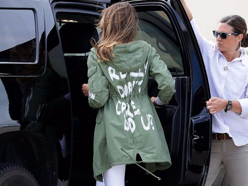 An artist gave Melania Trump's controversial 'I really don't care, do u?' jacket a makeover in a moving illustration
