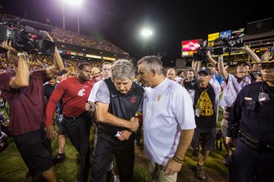 WSU's Mike Leach channels his inner Marshawn Lynch after win over Arizona State