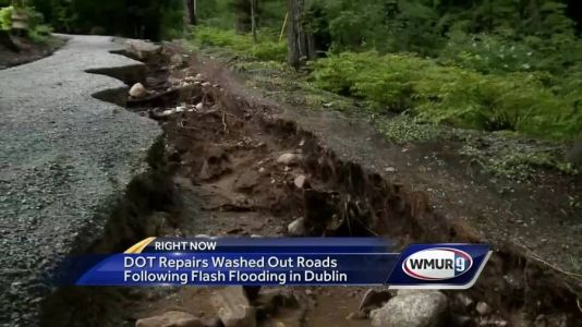 NH DOT repairs washed-out roads following flash flooding